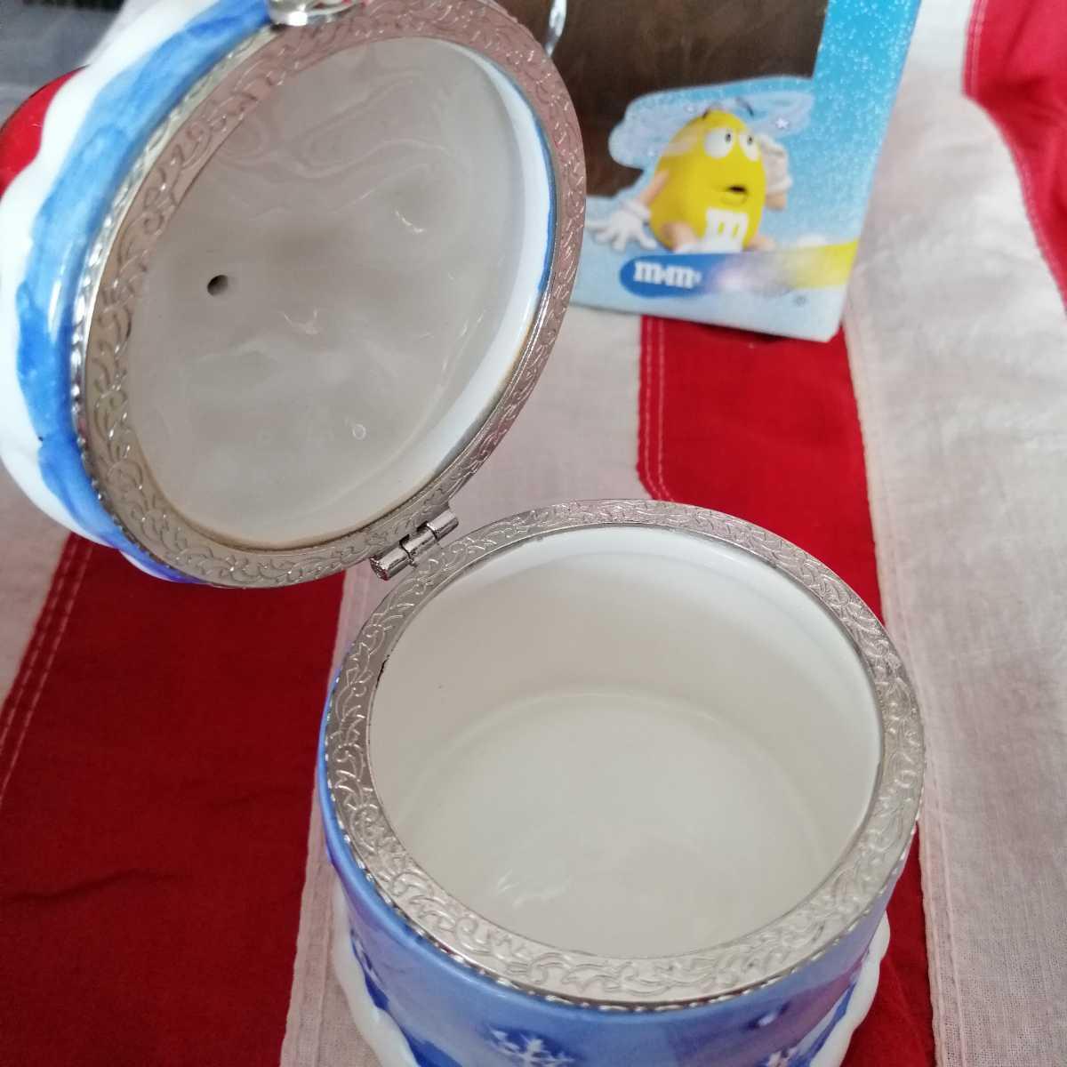 エムアンドエムズ M&Ms フィギュア インテリア 陶器製 人形 小物入れ レトロ 置き物 雪国限定品 D254_画像4