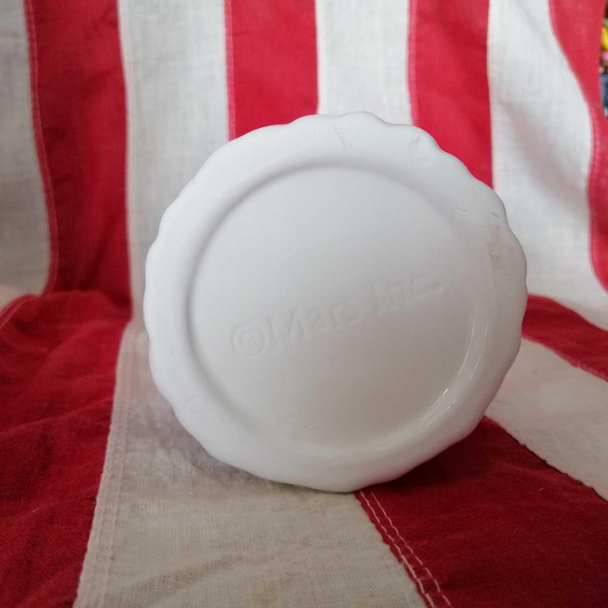 エムアンドエムズ M&Ms フィギュア インテリア 陶器製 人形 小物入れ レトロ 置き物 雪国限定品 D254_画像2