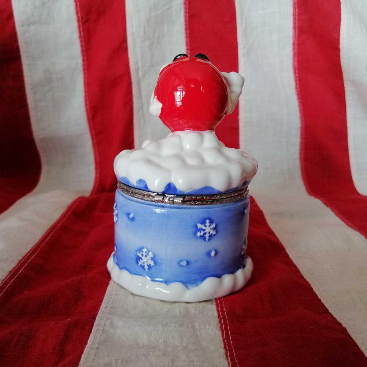 エムアンドエムズ M&Ms フィギュア インテリア 陶器製 人形 小物入れ レトロ 置き物 雪国限定品 D254_画像3