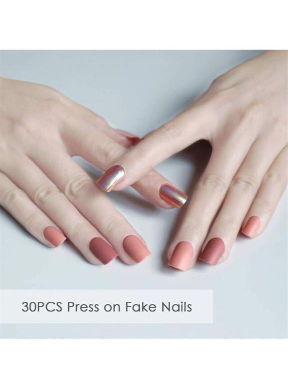 ネイルチップ 付け爪 つけづめ 偽のネイルチップ 女性 女の子 偽の爪 30個 豪華 人工爪 ピンク色