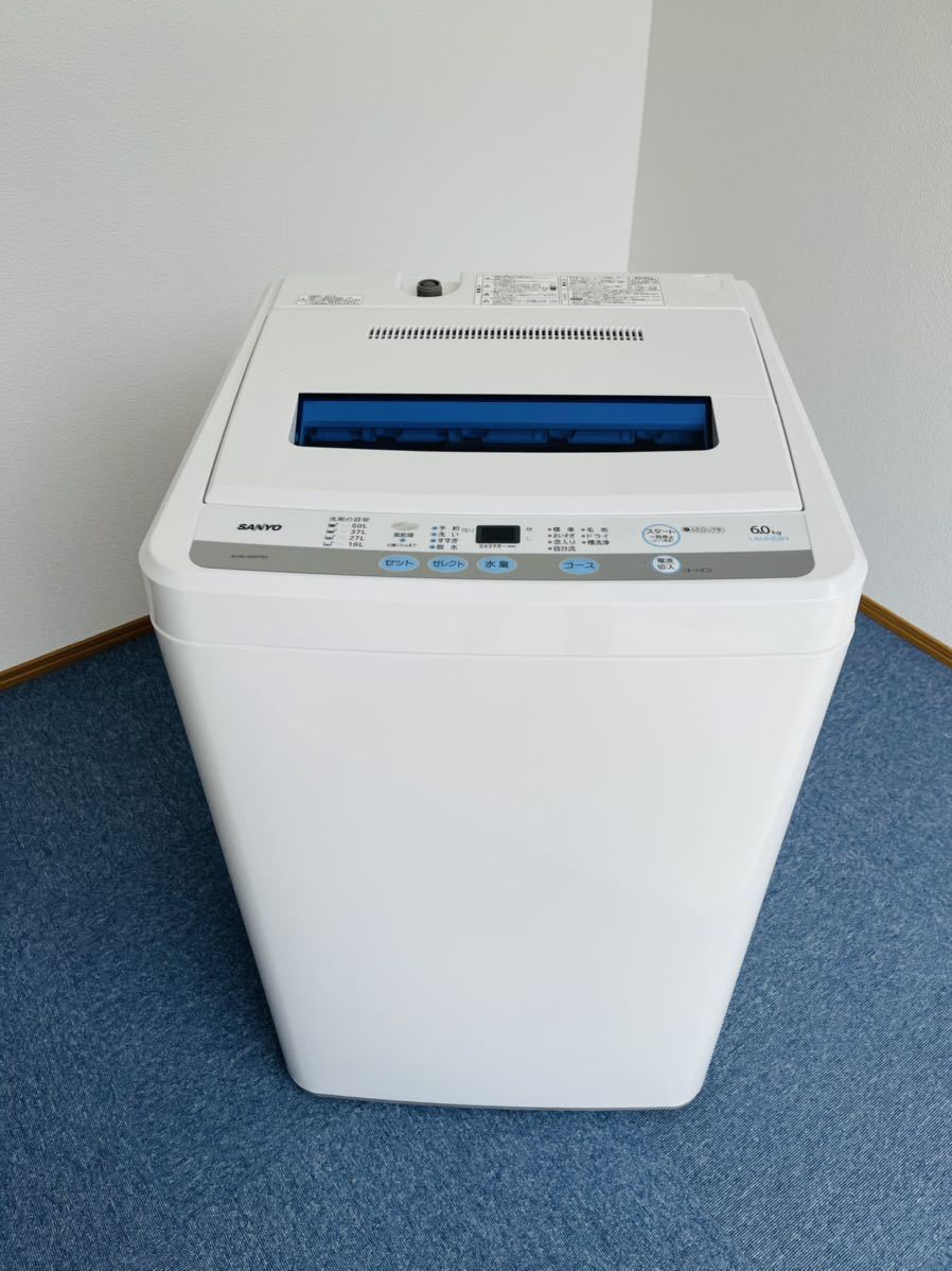 SANYO全自動洗濯機 6.0kg_画像1