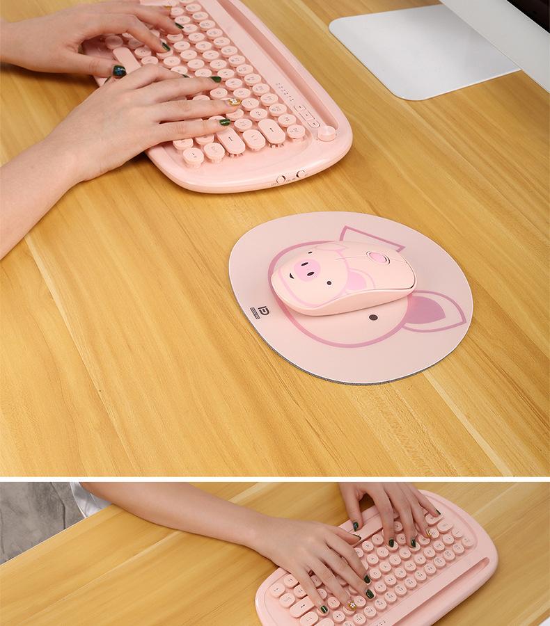 ワイヤレス光学式マウス+マウスパッド/2点セット 送料込み PCパソコン/ピンクの子ブタ2.4Ghz/無線/ノートパソコン