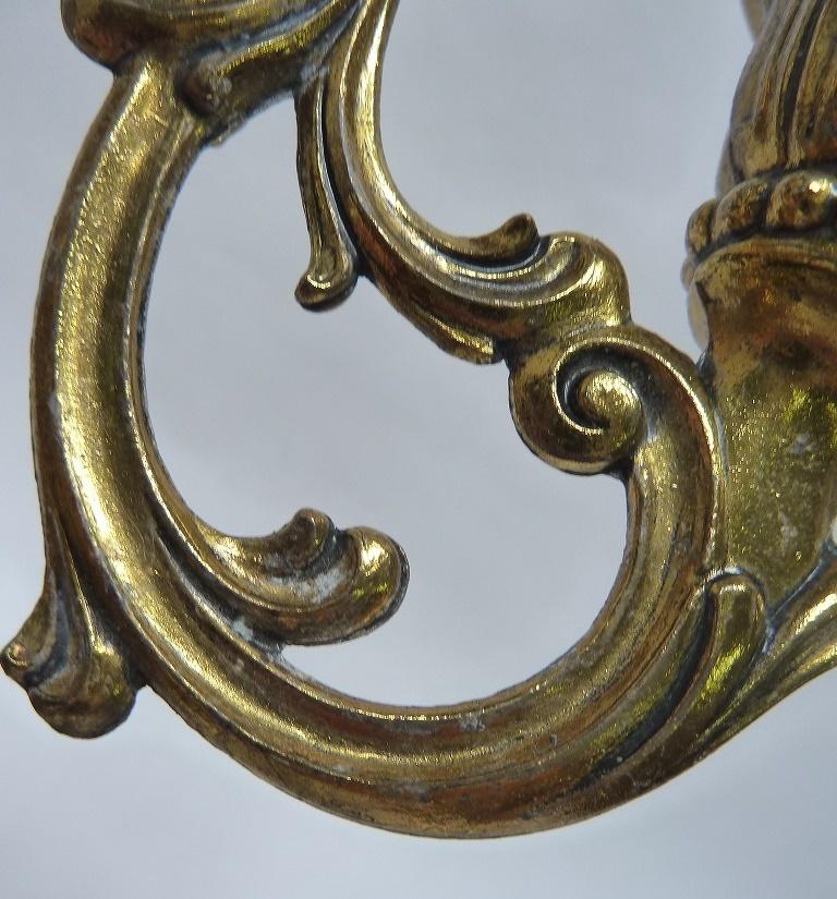 ☆アンティーク キャンドルスタンド 3灯 燭台 ろうそく台 キャンドルホルダー ゴールド ヴィクトリアン レトロ 真鍮製 ゴシック バロック_画像10