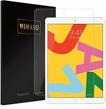 【七転八倒】:10.2 inch 【ガイド枠付き】Nimaso iPad 10.2 (8世代 2020) ガラスフィルム i_画像1