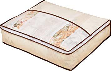 ベージュ アストロ 羽毛布団 収納袋 シングル用 ベージュ 不織布 コンパクト 優しく圧縮 131-22_画像1