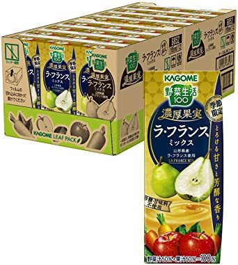 195ml×24本 カゴメ 野菜生活100濃厚果実ラフランスミックス195ml ×24本_画像3