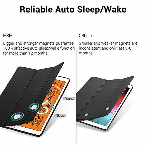 ESR ブラック ESR iPad Mini 5 2019 ケース 軽量 薄型 スマート カバー 耐衝撃 傷防止 ソフト TPU_画像3