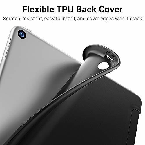 ESR ブラック ESR iPad Mini 5 2019 ケース 軽量 薄型 スマート カバー 耐衝撃 傷防止 ソフト TPU_画像5