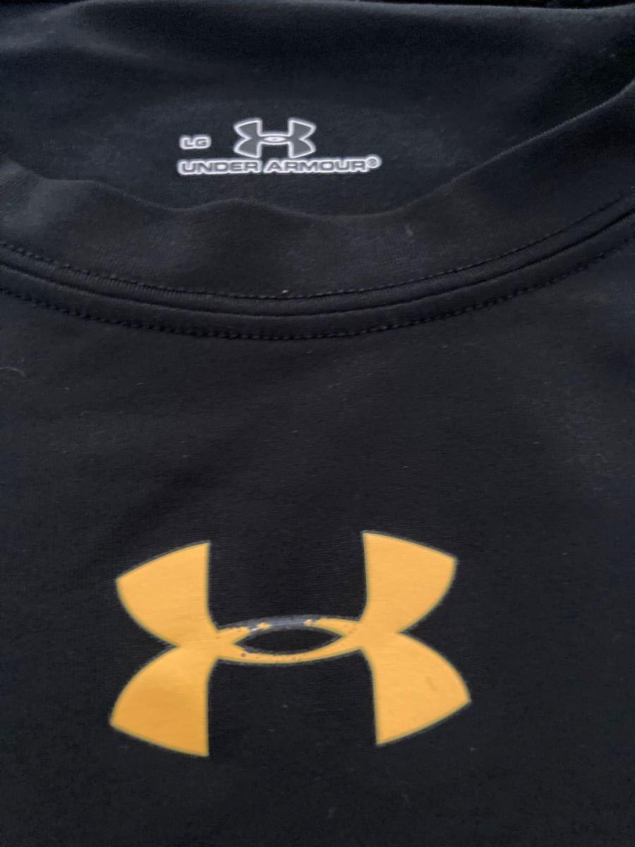 値下げUNDER ARMOUR アンダーアーマー インナーシャツ 半袖 アンダーアーマーヒートギア 黒黄色