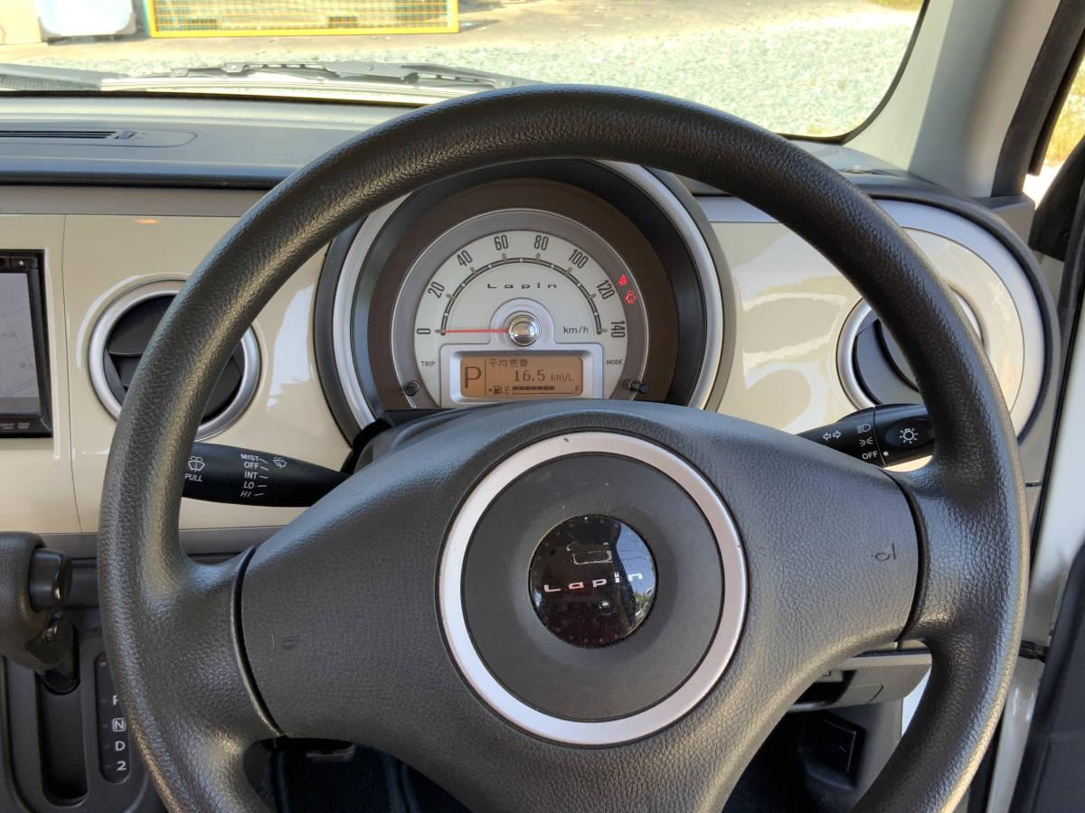 静岡西部 すぐ乗れます♪ 平成22年 アルト ラパン プッシュスタート 車検令和4年1月ナビ ETC スマートキー_画像7