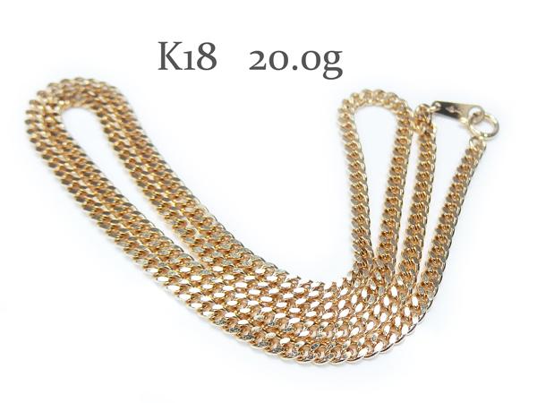 r-26☆K18 喜平 2面 キヘイチェーン ネックレス 20.0g/約50cm