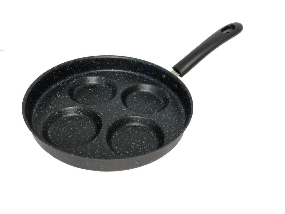 IHとガス火対応 四食フライパン 4穴目玉焼きフライパン24cm