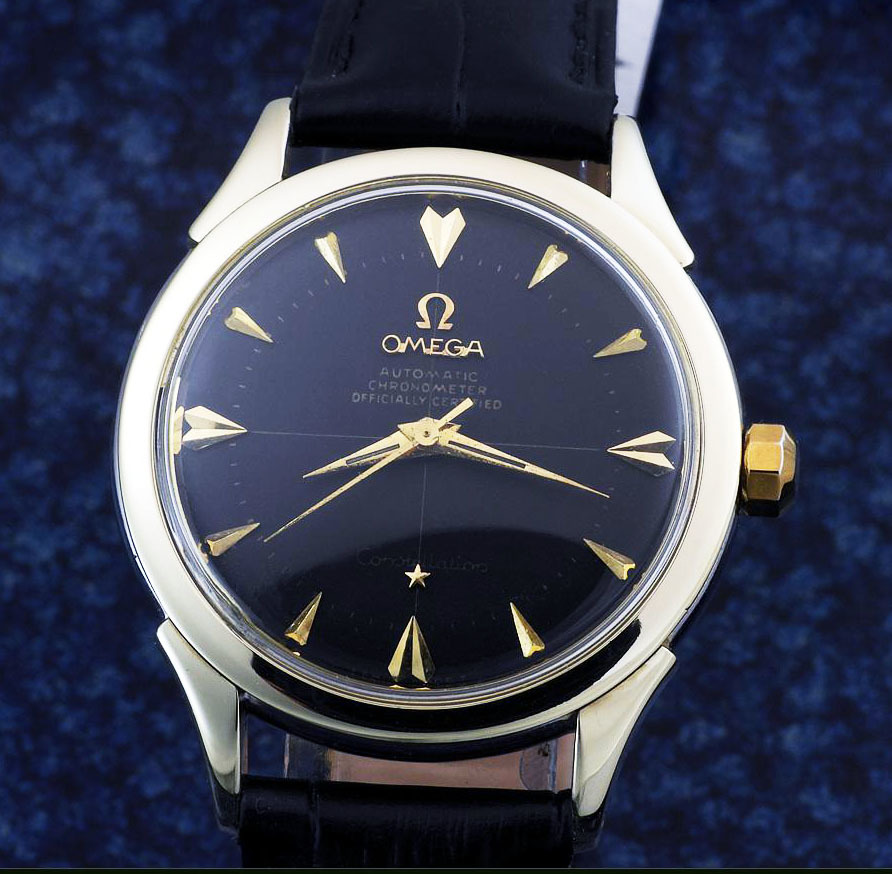 OMEGA コンステレーション・クロノメーター Cap Gold/ Steel , Black Dial Automatic ( 稼働品 ) / Ref. 2852-7 SC