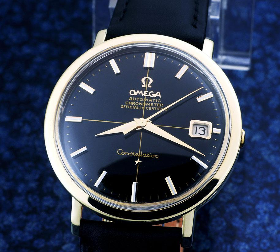 OMEGA コンステレーション・クロノメーター Cap Gold/ Steel , Black Dial Automatic (