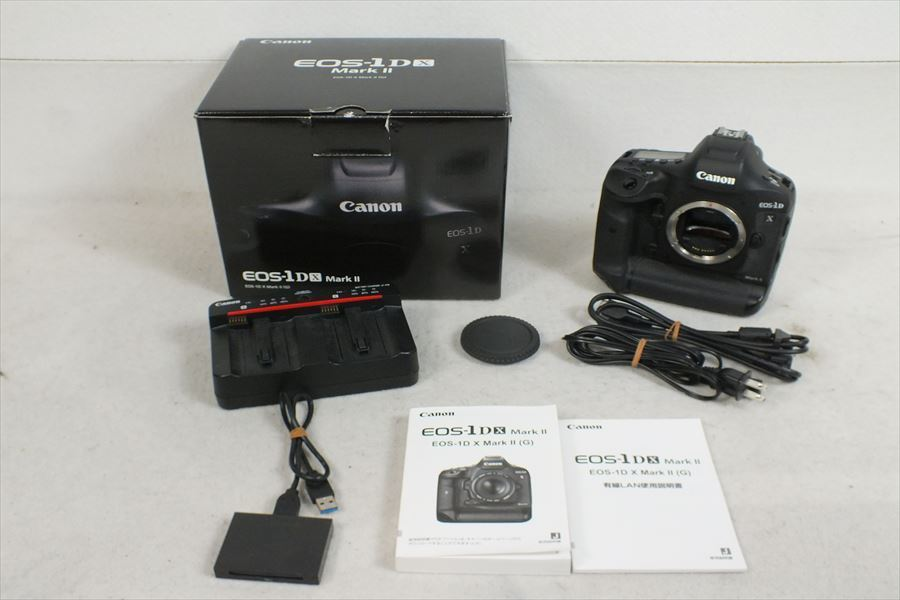 ★Canon キャノン EOS-1D X MarkII デジタル一眼レフカメラ 取扱説明書有り 元箱付き シャッター切れOK 現状品 中古 210401N3448