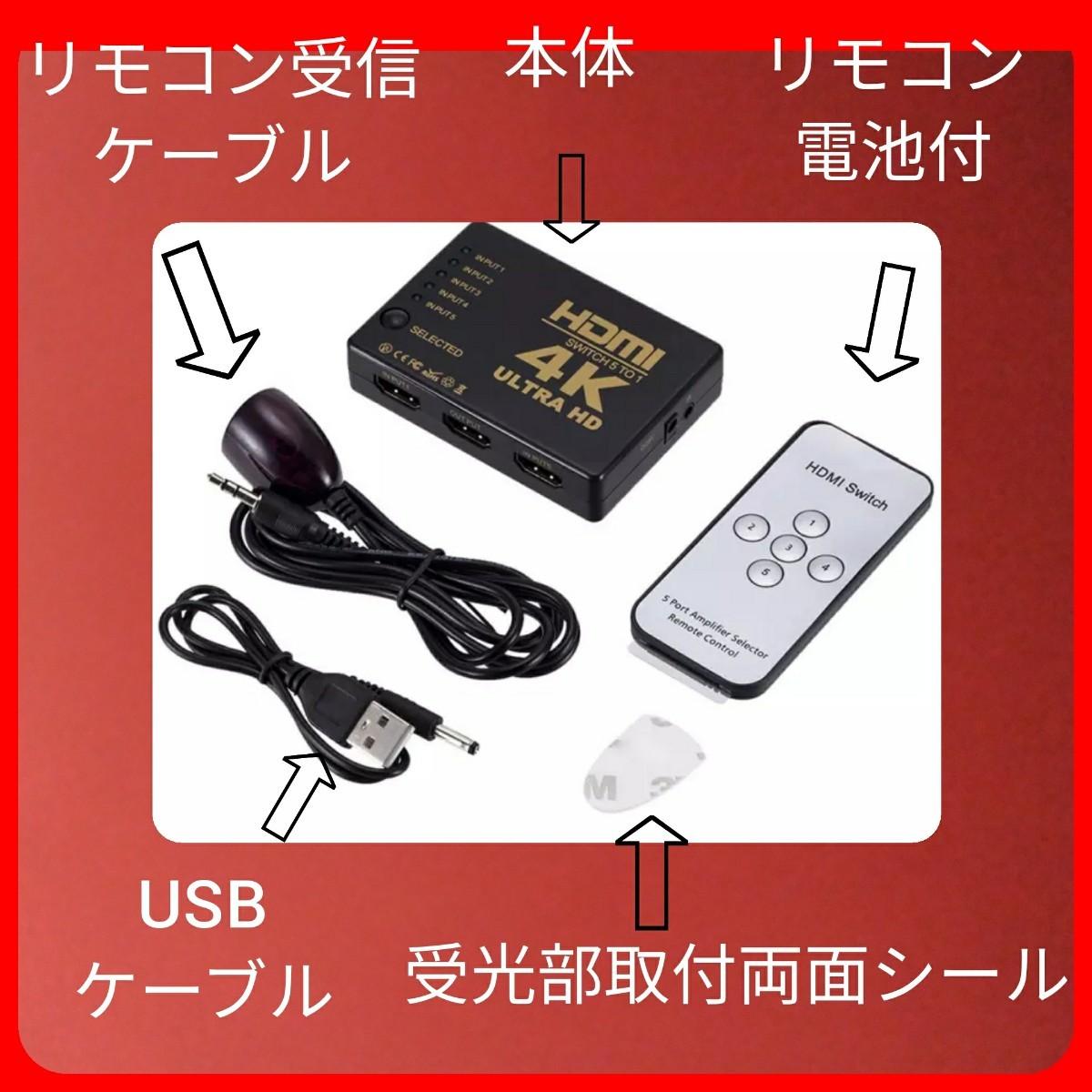 HDMI 5入力1出力セレクター