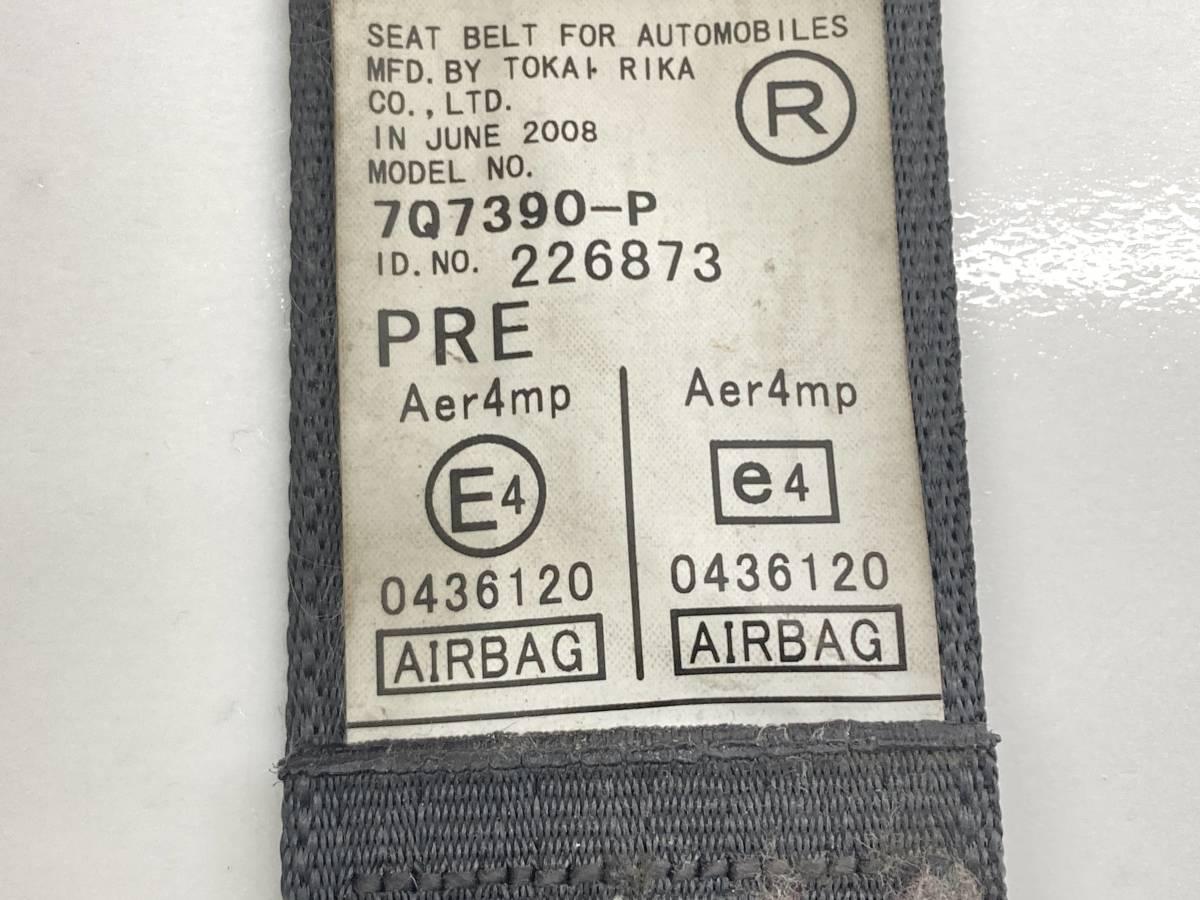 _b60195 ダイハツ ムーヴ ムーブ L DBA-L175S シートベルト フロント 右 運転席 F/RH FD10 L185S_画像5