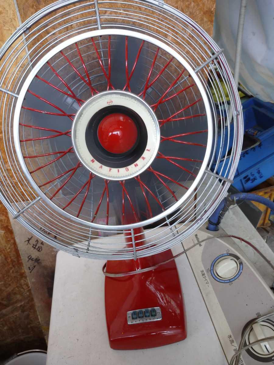 扇風機 昭和レトロ National ナショナル エレクトリックファン アンティーク レトロ扇風機 _画像9