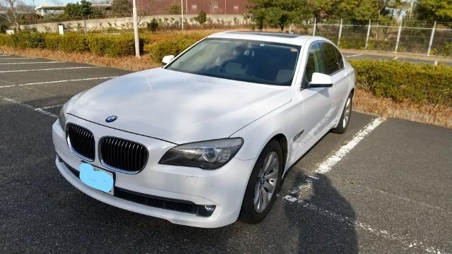 「BMW740i 車検令和5年2月 93900km 3000cc直列6気筒ターボエンジン サンルーフ付き コミコミ売り切り」の画像2