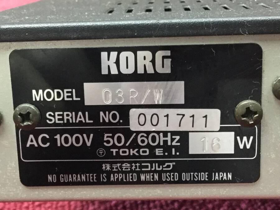 KORG 03R/W 音源モジュール★現状品_画像3