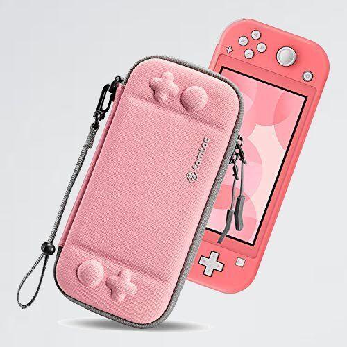 新品 未使用 Switch Nintendo S-ZL ストラップ付き コ-ラル Lite対応 tomtoc ハ-ドケ-ス スイッチ ライト 耐衝撃 薄型_画像1
