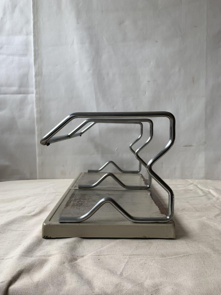 シャビーなアイアン製卓上ブックスタンド本立て インテリアディスプレイ古道具アンティークビンテージインダストリアル工業系店舗什器雑貨_画像5
