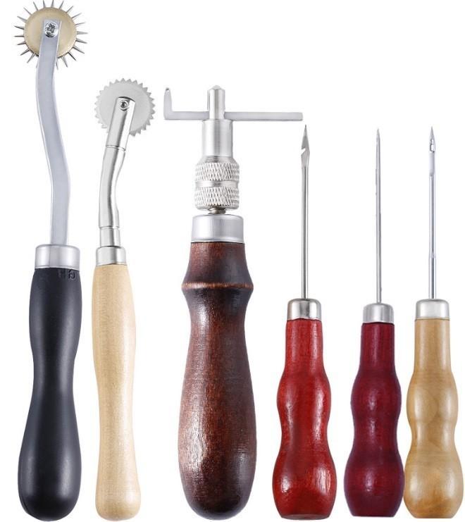 レザークラフトキット 31点セット道具一式 初心者セット 工具 皮道具 革 工具セット DIY 菱目打ち 革細工