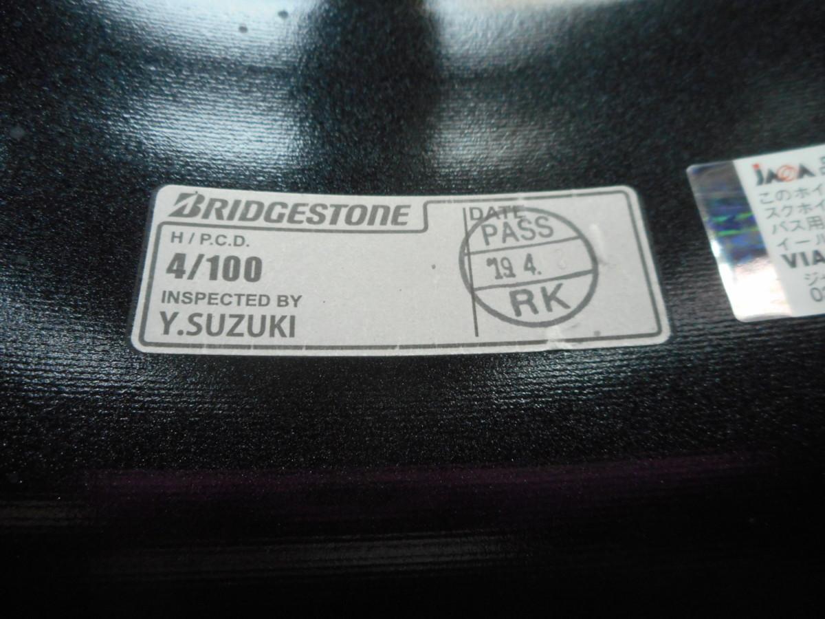 【BRIDGESTONE】POTENZA SW010/パールブラック☆7J×17+52 PCD100-4穴☆1本のみ[中古1705]大橋店_画像4
