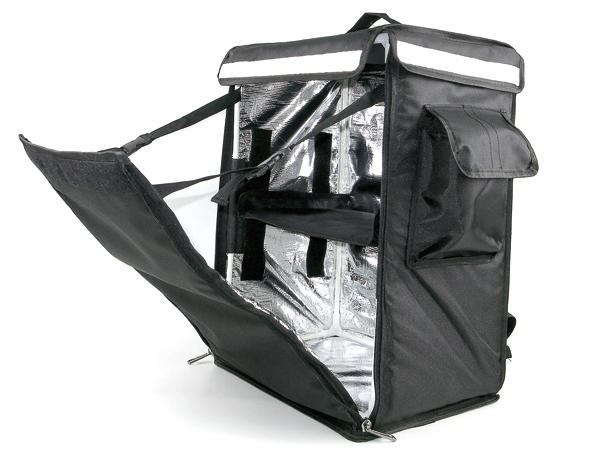 1円~ 大容量 2段可能 デリバリーバッグ デリバリーリュック 宅配 鞄 配達リュック 特大サイズ 保冷 保温 反射テープ デリバリ 黒 ブラック