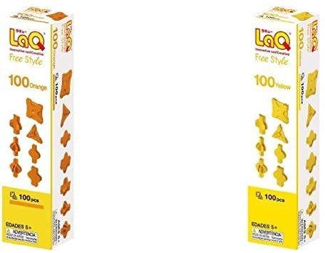 ラキュー (LaQ) フリースタイル(FreeStyle) 100オレンジ & (LaQ) フリースタイル(FreeS_画像1