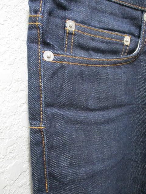 即決 2011AW Dior HOMME ディオールオム 11AW 003D000A0219 ノンウォッシュ ストレートスリムパンツ リジットデニム メンズ29 _画像4