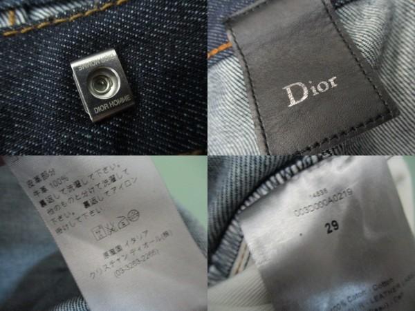 即決 2011AW Dior HOMME ディオールオム 11AW 003D000A0219 ノンウォッシュ ストレートスリムパンツ リジットデニム メンズ29 _画像10