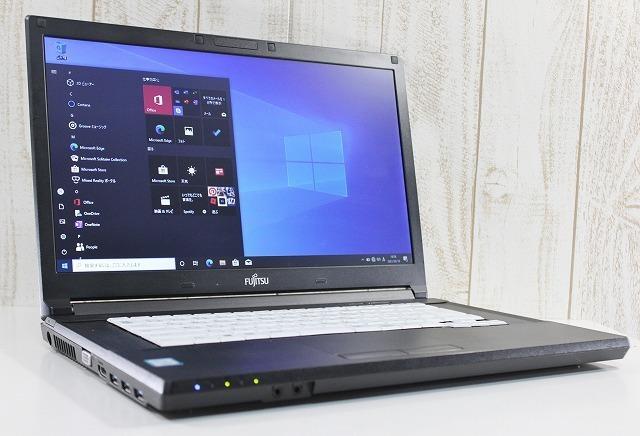 1円スタート 富士通 LIFEBOOK A576/R Windows10Pro 第6世代 Core i5 2.4GHz メモリ4GB HDD500GB カスタマイズ可 DVDスーパーマルチ 無線LAN