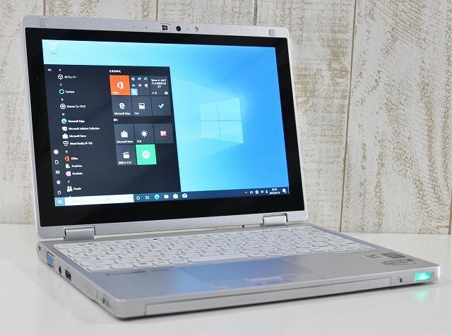 1円スタート 超軽量 2in1PC コンパクト Panasonic レッツノート CF-RZ4 windows10Pro Core m メモリ4GB SSD128GB オプション 増設可 タッチ