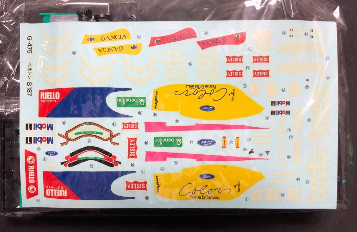 @中古絶版模型堂 グンゼ 1/24 ベネトンB187(フォード) 定形外送料350円_画像3