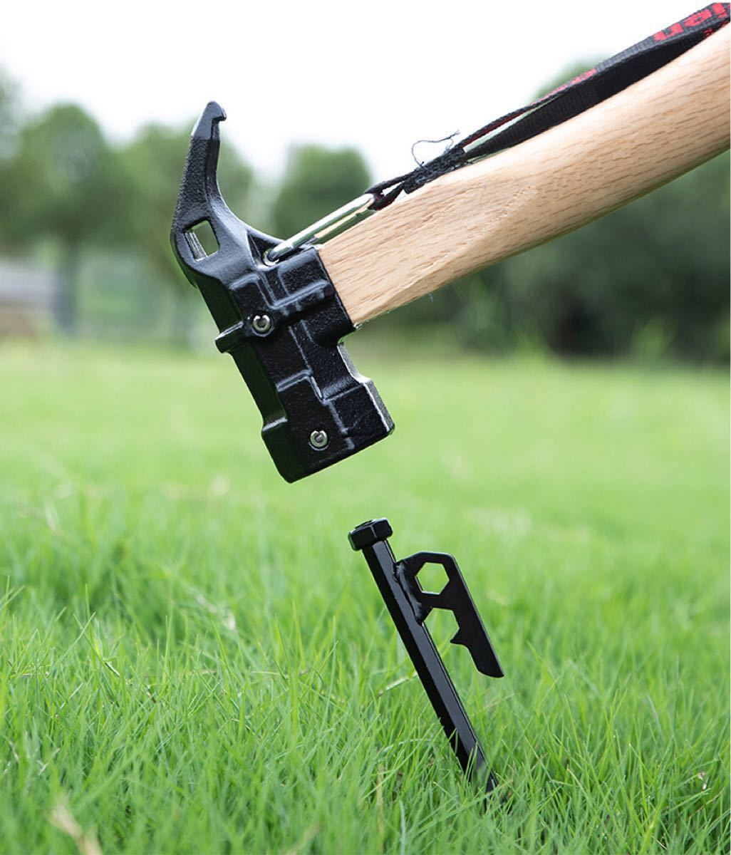 ペグハンマー 鋳鋼 真鍮 ペグ打ち込み 衝撃緩和 キャンプ用品 ハンマー