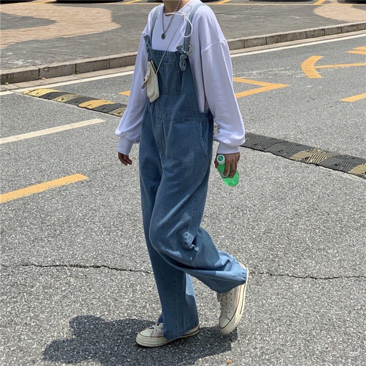 オーバーオール【人気】デニム サロペット オールインワン ユニセックス 男女兼用 レディース メンズ