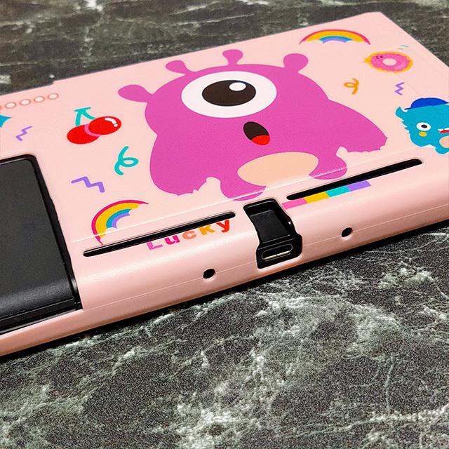 【即日~翌日発送】Pac-Man パックマン ゴースト スイッチ カバー 任天堂 Switch 保護 ソフト ケース 分離式 かわいい ピンク さくらんぼ_画像2