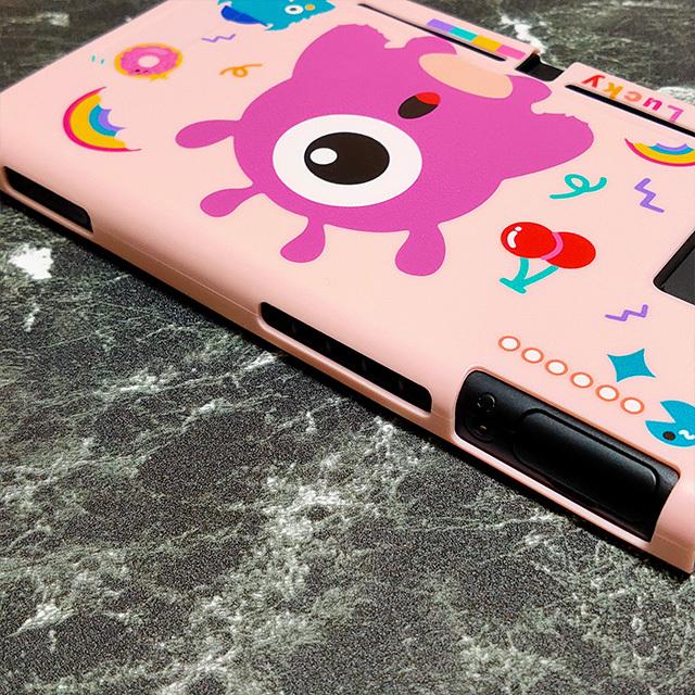 【即日~翌日発送】Pac-Man パックマン ゴースト スイッチ カバー 任天堂 Switch 保護 ソフト ケース 分離式 かわいい ピンク さくらんぼ_画像3