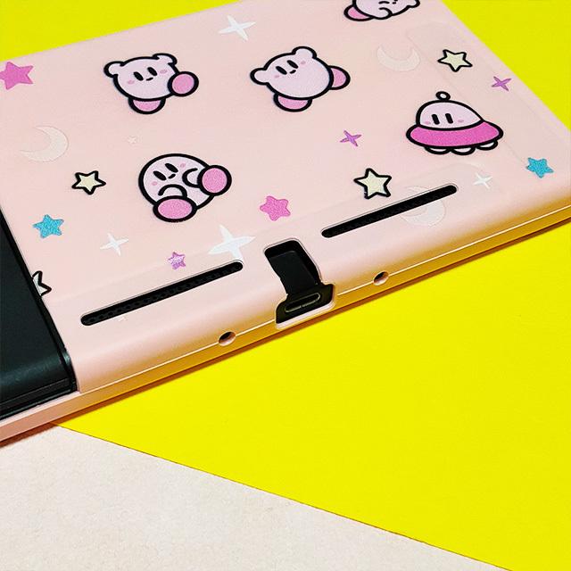 【即日~翌日発送】星のカービィ スイッチ カバー 任天堂 Switch 保護 ソフト ケース 分離式 ハンドル付 かわいい ピンク キラキラ_画像2