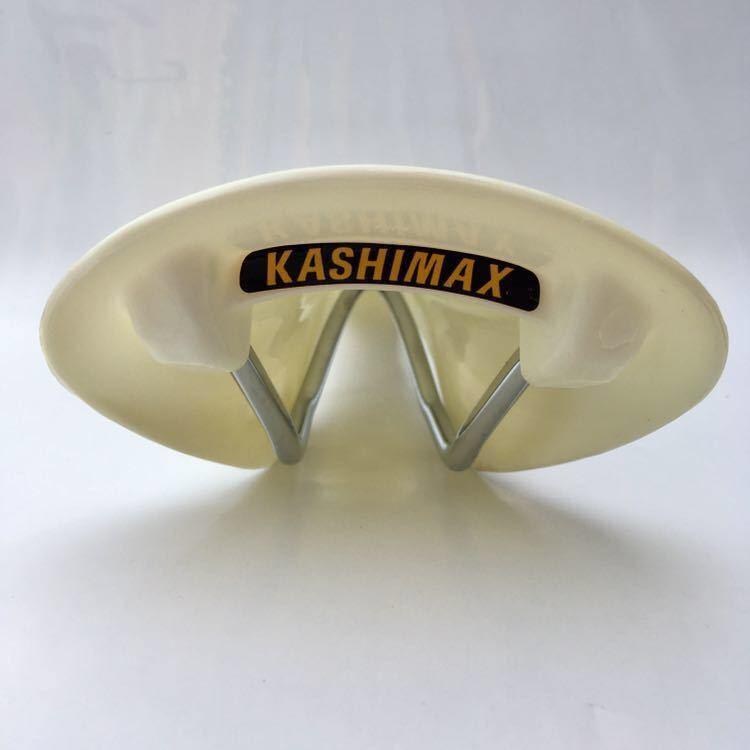 レア KASHIMAX AERO NJS 刻印有 プラサドル ホワイト 新品 未使用 カシマックス エアロ PIST BMX ピスト 競輪 KEIRIN ケイリン_画像3