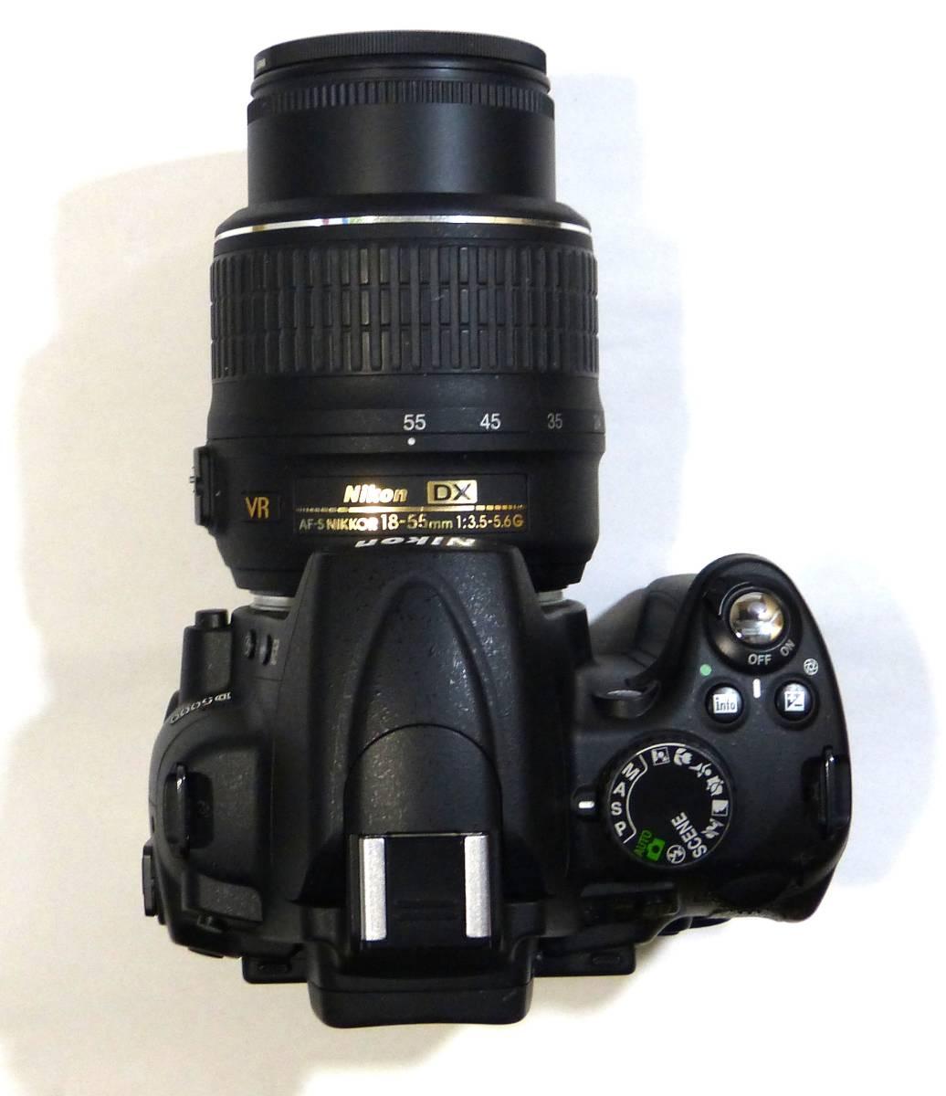 デジタルカメラ ニコン中古一眼レフ 動作確認済 Nikon D5000  純正 ズームレンズ キット18-55mm 1230画素 4GSDHC 純正バッテリー_画像3