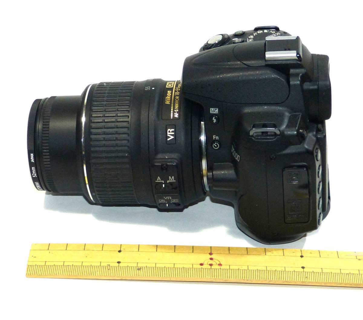 デジタルカメラ ニコン中古一眼レフ 動作確認済 Nikon D5000  純正 ズームレンズ キット18-55mm 1230画素 4GSDHC 純正バッテリー_画像8