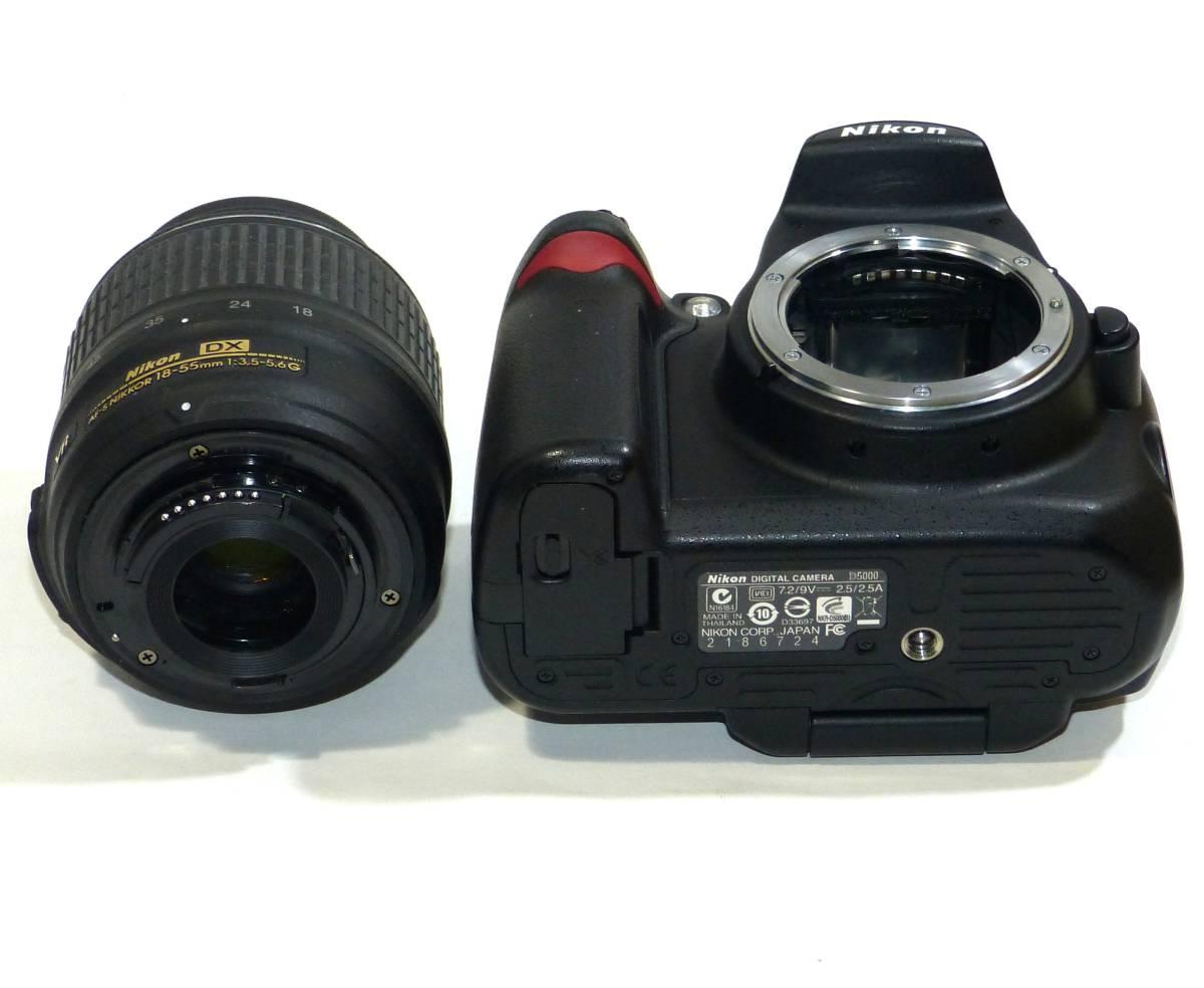 デジタルカメラ ニコン中古一眼レフ 動作確認済 Nikon D5000  純正 ズームレンズ キット18-55mm 1230画素 4GSDHC 純正バッテリー_画像10