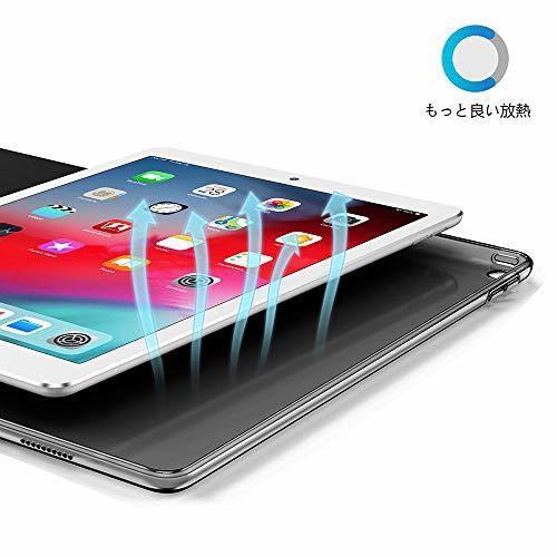 色ダークブラック KenKe iPad 9.7インチ 2018/2017 半透明 ケース軽量 薄型 耐衝撃 PUレザー 三つ折スタ_画像5