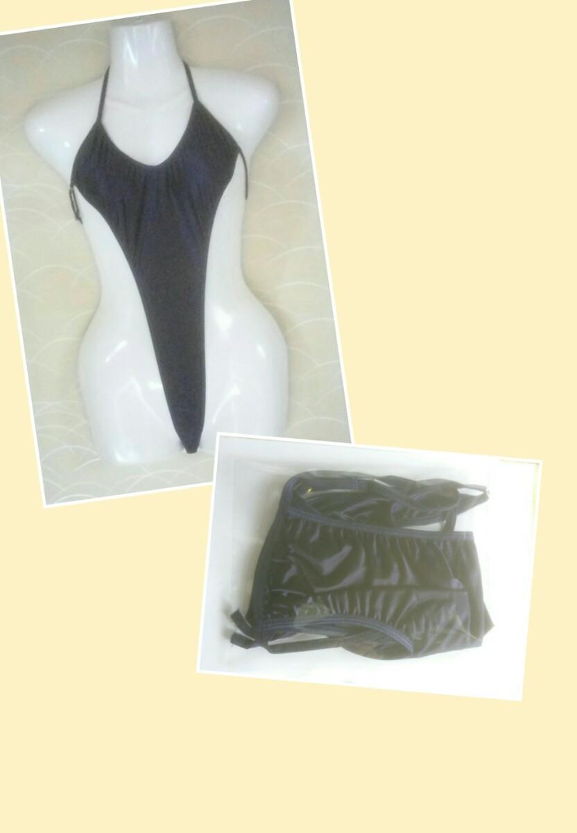 ハイレグレオタード セクシーコスプレ衣装 紺色 フリーサイズ