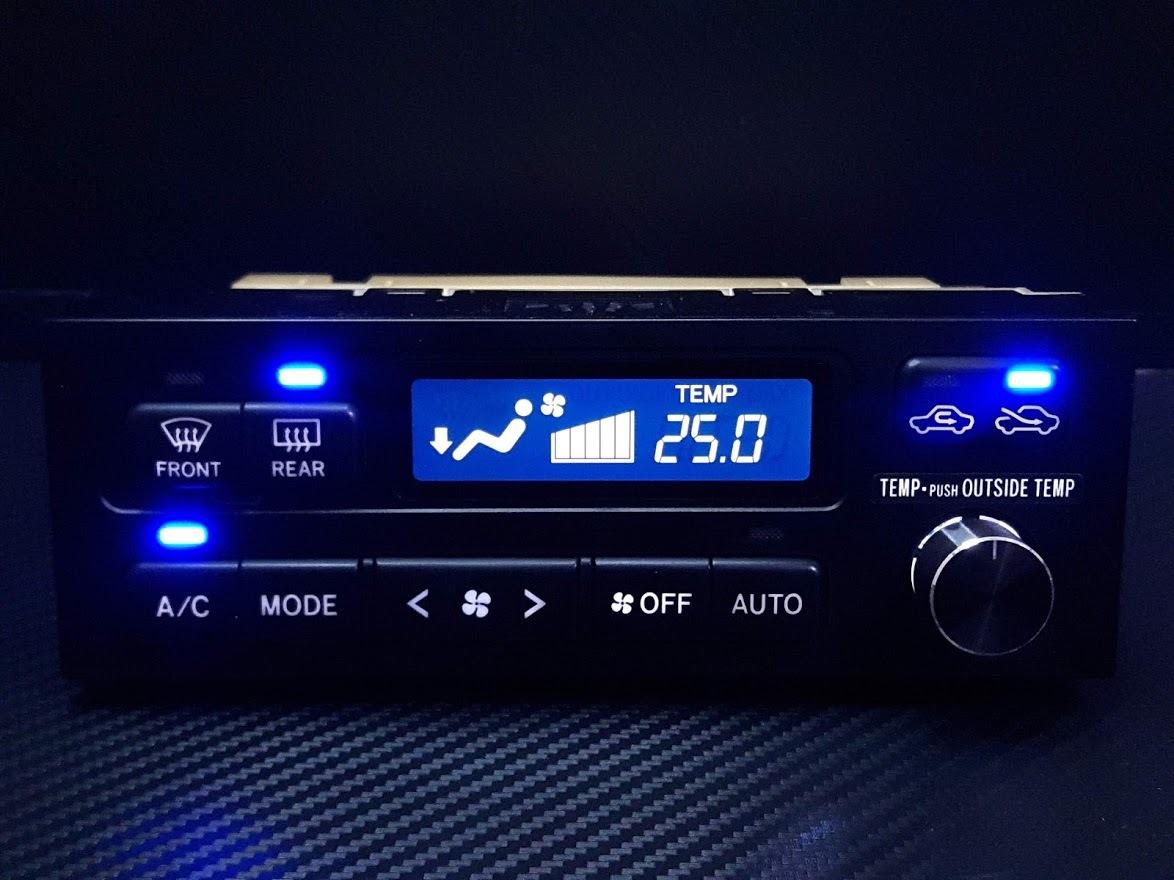 ★☆JZX100 チェイサー エアコンスイッチパネル 液晶反転加工 LED打ち替え交換品☆★