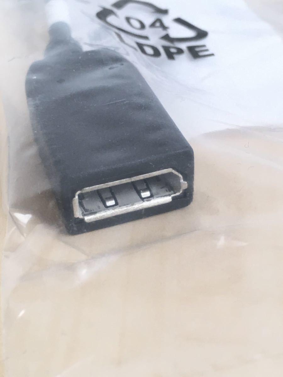 Mini DisplayPort (オス) / DisplayPort (メス) 変換ケーブル