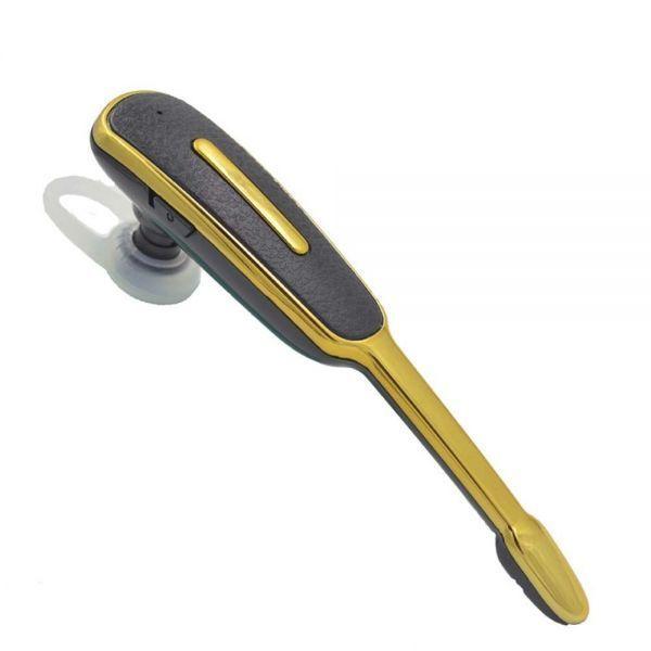 ヘッドセット Bluetooth マイク付きイヤホン ブルートゥース 耳掛け式 イヤホン 高音質 片耳 ワイヤレス ゴールド_画像3