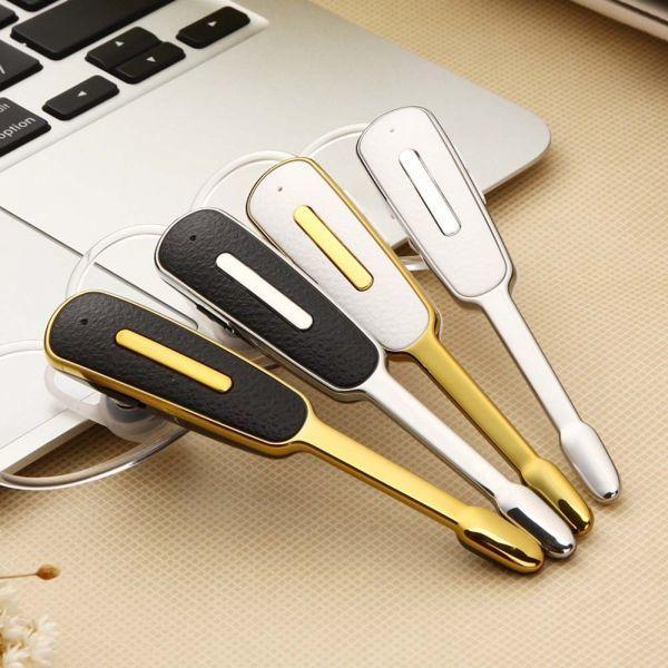 ヘッドセット Bluetooth マイク付きイヤホン ブルートゥース 耳掛け式 イヤホン 高音質 片耳 ワイヤレス ゴールド_画像5